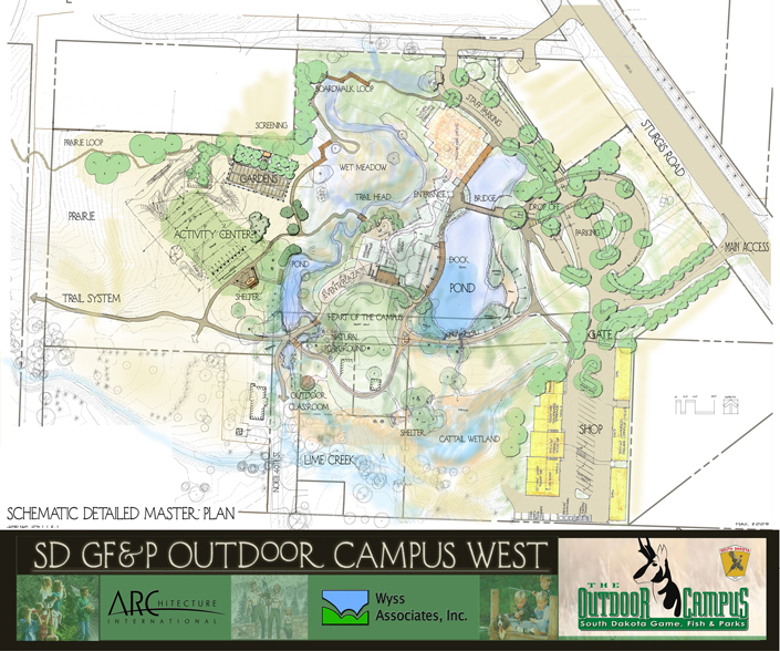 Gf p outdoor campus west our work content for Sd game fish parks