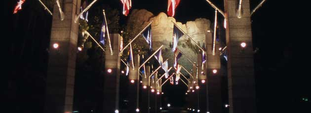 Mount Rushmore Lighting
